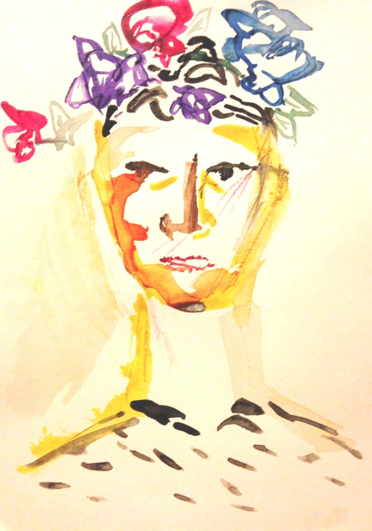"""Nero."" Watercolor on paper. November 2014."